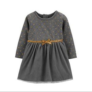 New Carter's Glitter Polka Dot Dress Set